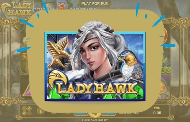 แนะนำเกมสล็อต Lady Hawk