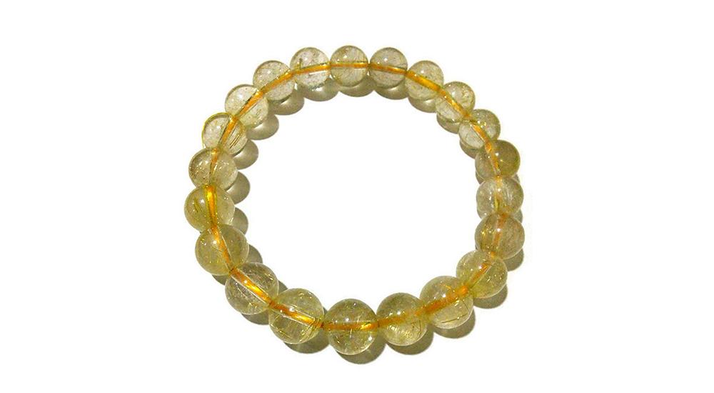 หินไหมทอง (Golden Rutilated Quartz)